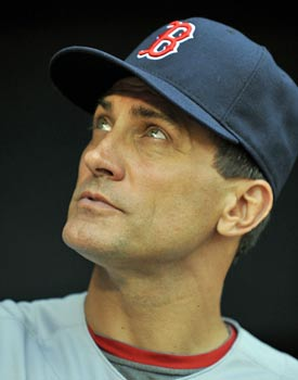 Even Bobby Valentine's coaches, like Tim Bogar, have a frosty relationship with the embattled manager. (US Presswire)