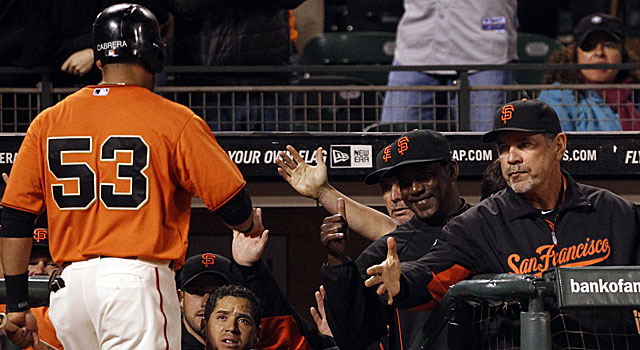 With Melky's suspension, Giants manager Bruce Bochy has to use Gregor Blanco in left field. (US Presswire)