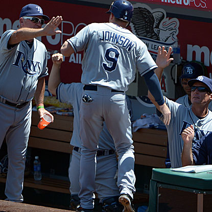 The Rays outscore the Angels 37-14 in their series, setting a franchise record for runs in a four-game set.  (US Presswire)