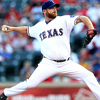 Ryan Dempster goes eight strong innings, retiring his final 11 batters, to throw his best game since joining the Rangers. (Getty Images)