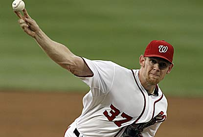 Stephen Strasburg allows one run over six innings to help the Nats take a seven-game lead over the Braves in the NL East. (AP)