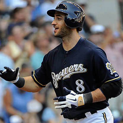 Ryan Braun doubles, homers and collects two RBI in the Brewers' victory over the Cubs. (US Presswire)