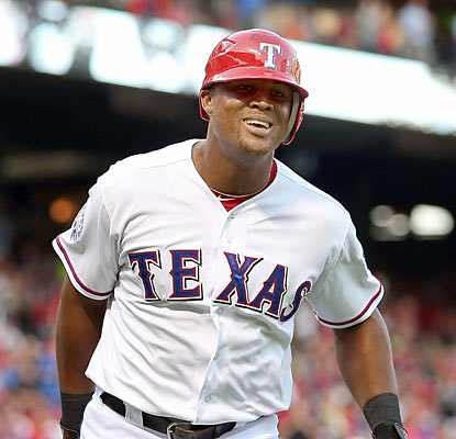 Adrian Beltre has a game to remember. The Rangers' 3B smashes three home runs, including two in the fourth inning. (Getty Images)