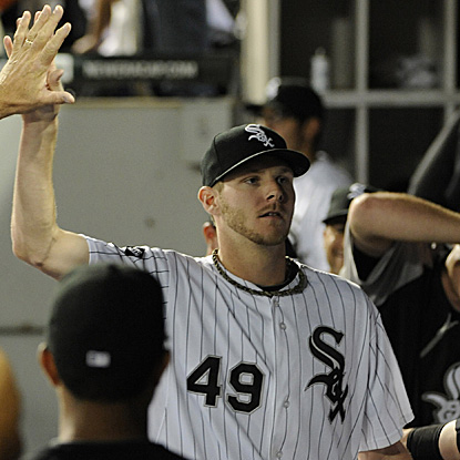 The White Sox's Chris Sale allows one run and strikes out 13 batters to beat the Yankees for this 15th win of the season. (US Presswire)