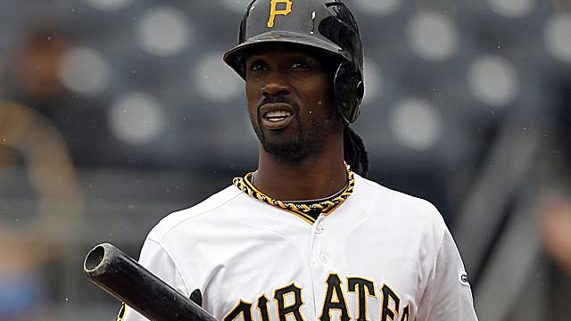 Despite his hitting rut, Andrew McCutchen still owns the NL's best batting average. (Getty Images)