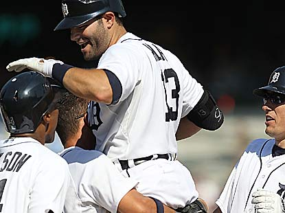 Alex Avila is as popular as ever after his RBI single with two outs in the 11th caps the sweep for the Tigers. (Getty Images)