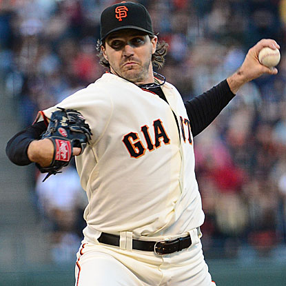 Barry Zito strikes out five and allows two earned runs in eight-plus innings to lead the Giants past the Braves. (US Presswire)