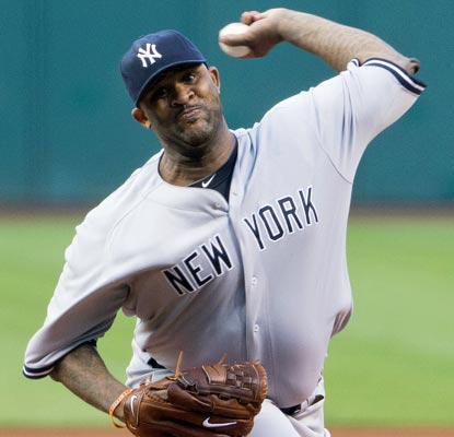CC Sabathia doesn't miss a beat, working 7 1/3 innings and striking out nine against the Indians.  (Getty Images)
