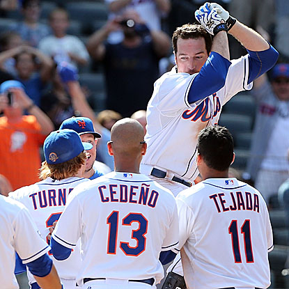Ike Davis connects on a game-winning home run to lift the Mets to their first home series win since early July. (Getty Images)