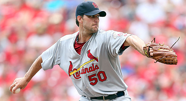 Adam Wainwright's gem on Sunday puts the Cardinals second overall in the wild card race. (Getty Images)