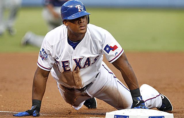 Over a three-game span, Beltre smacked five homers and had nine RBI. (AP)