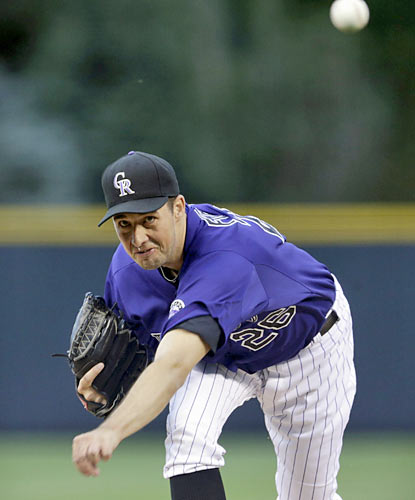 Jeff Francis throws five shutout innings and punches out six batters as the Rockies silence the Dodgers' bats. (AP)