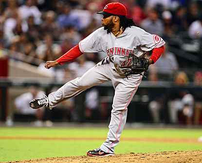 Johnny Cueto notches his 17th win of the season and lowers his NL-leading ERA to 2.48. (US Presswire)