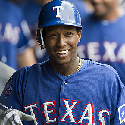 Jurickson Profar homers in his MLB at-bat, becoming the first Texas Ranger to do so. (Getty Images)