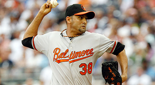 Luis Ayala and the Orioles' bullpen are 58-0 in games they're leading after the seventh inning. (US Presswire)
