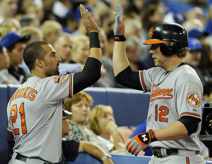 Nick Markakis and Mark Reynolds help the O's share first place in September for the first time since 1997. (Getty Images)