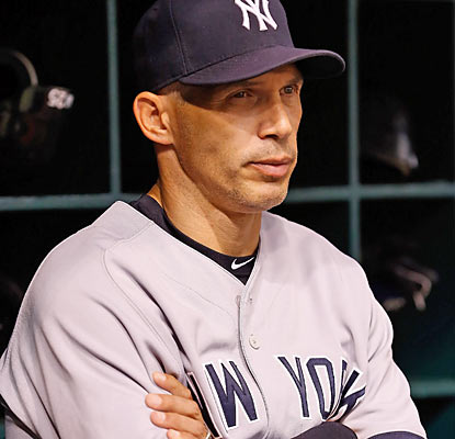 Joe Girardi's Yankees, now 19-26 since July 18, lose their grasp of sole possession of first place in the AL East. (Getty Images)