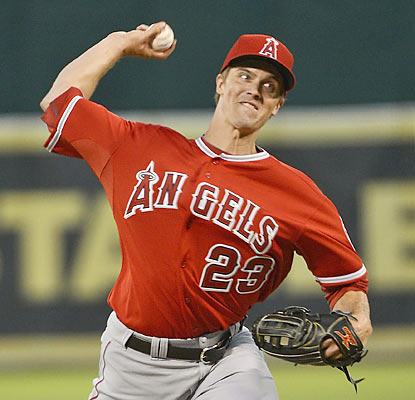 Angels hurler Zack Greinke records his third consecutive win. He also allows a home run in seven straight starts. (Getty Images)