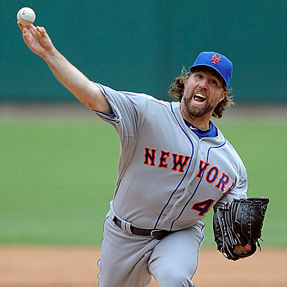 R.A. Dickey defeats the Cardinals to become the first Met since Frank Viola and Dwight Gooden in 1990 to win 18 games. (Getty Images)