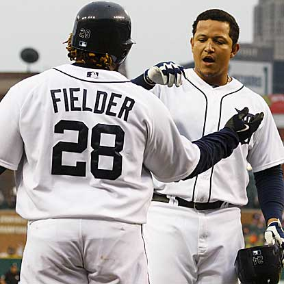 Miguel Cabrera's two-run homer and Prince Fielder's solo shot help the Tigers get past the Indians and avoid a sweep. (US Presswire)