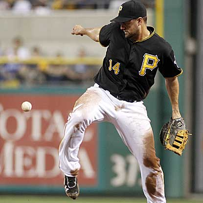 With seven errors, the Pirates suffer one of their worst defensive nights in the 130-year history of their organization. (Getty Images)