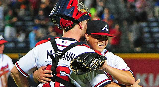 Kris Medlen is 7-0 with a 0.81 ERA since moving into the Braves' rotation from the bullpen. (Getty Images)