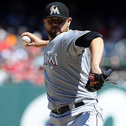 The Marlins' Ricky Nolasco throws a four-hitter to shut out the Nationals for the second time in two weeks. (US Presswire)
