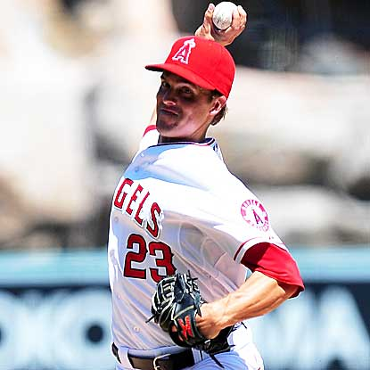 The Angels' Zack Greinke throws seven strong innings to defeat the Tigers for his fourth straight victory. (US Presswire)
