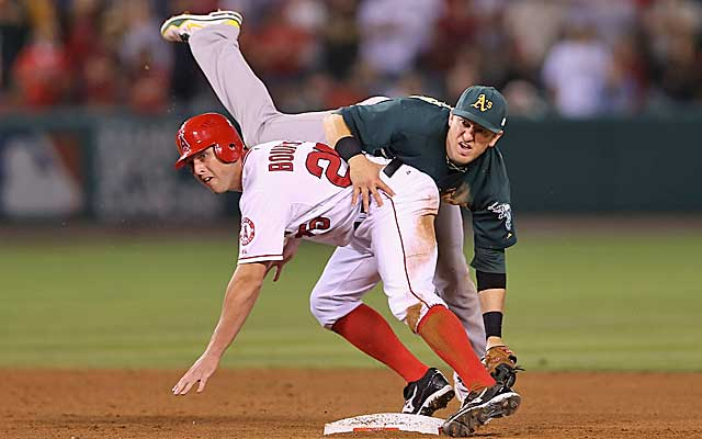 The A's and the Angels are locked in a tight race for an AL wild-card berth. (Getty Images)