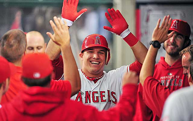 Mike Trout and the Angels will begin the 2013 season with an interleague matchup. (US Presswire)