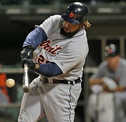 Prince Fielder snaps an 0-for-18 slump with this three-run blast in the seventh inning.  (Getty Images)
