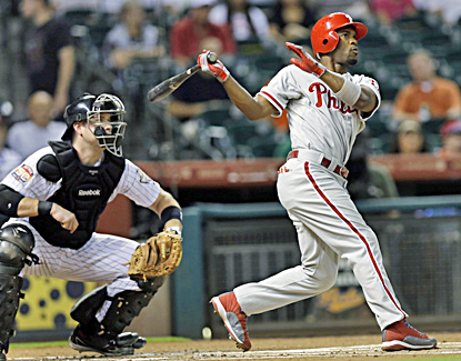 Jimmy Rollins hits a leadoff home run to help the Phillies start strong and cruise past the Astros. (AP)