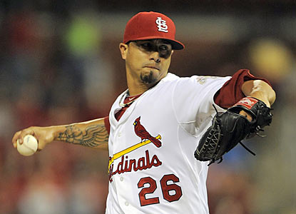 Kyle Lohse records his 15th win to match his season best for victories in a season. (US Presswire)
