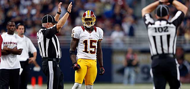 Josh Morgan watches as he's whistled for the now-infamous penalty. (Getty Images)