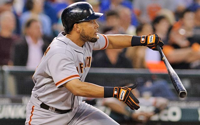 Melky Cabrera, suspended since Aug. 15, still leads the National League with a .346 average. (US Presswire)