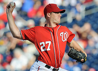 Jordan Zimmermann tosses six solid innings against the Dodgers to help the Nats claim the victory. (Getty Images)