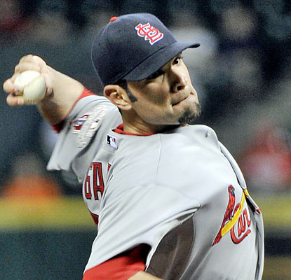 Jaime Garcia turns in a strong effort to help the Cards beat the Astros for the 10th straight time. (AP)