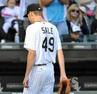 Chris Sale can't come through for the White Sox, giving up five runs in 3 1/3 innings.  (US Presswire)