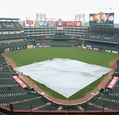 Rains gets in the way of a key AL West battle in Texas. The Rangers magic number in the division stays at three.  (US Presswire)
