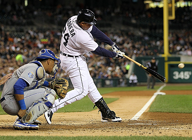 Cabrera is batting .325 with 43 home runs, and his current 136 RBI lead the league by nine. (Getty Images)