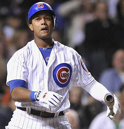 Starlin Castro strikes out in the fourth inning of another futile night for the Cubs, who get two-hit and reach a dubious mark. (AP)