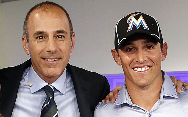 Greenberg, here with morning show host Matt Lauer, is expected to appear for Miami on Tuesday. (AP)