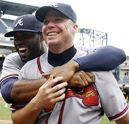 Chipper Jones gets his regular-season finale out of the way; now he leads Jason Heyward and the Braves into the playoffs.  (US Presswire)