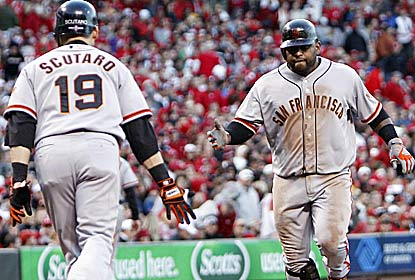 Pablo Sandoval homers and drives in three for the Giants, who scored a total of four runs in the previous three games. (US Presswire)