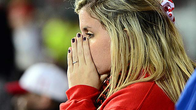 Reds fans hope their team can avoid an unprecedented meltdown. (US Presswire)