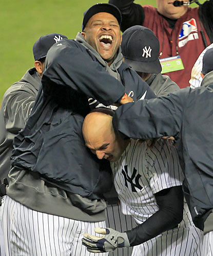 Raul Ibanez, who receives a hero's welcome at home plate, says he's 'blessed to come up and have the opportunity like that.' (US Presswire)