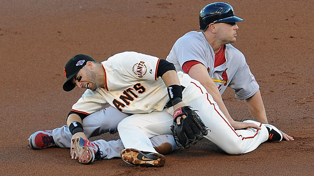 Matt Holliday on The Slide: 'In hindsight, I wish I had started my slide a step earlier.' (US Presswire)