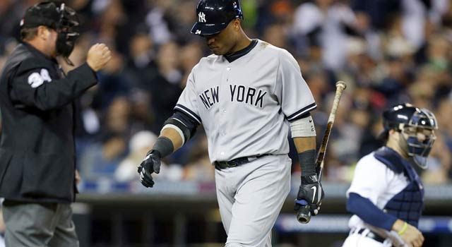 Before his single in the ninth, Robinson Cano was mired in a 0-for-29 postseason rut. (US Presswire)