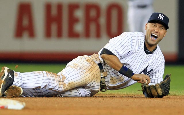 Derek Jeter fractured his ankle Oct. 13. (USATSI)