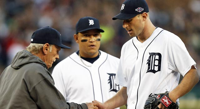 Max Scherzer and the Tigers pitching staff hold the Yankees to a .157 average in the ALCS. (US Presswire)